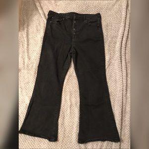 American Eagle Black Flare Jeans